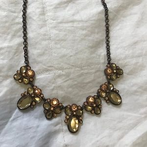 LOFT Rose Gold Statement Necklace